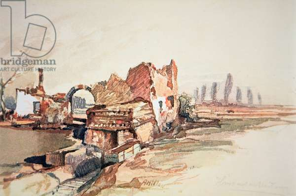 War Ruins (w/c on paper)