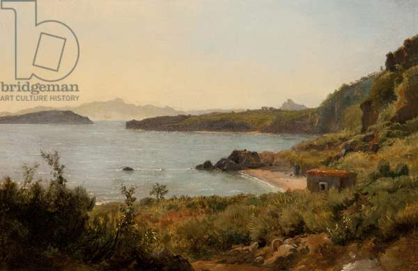 Ile d'Ischia (The Island of Ischia), 1819 (oil on board)