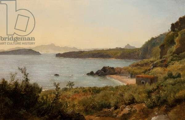Ile d'Ischia (The Island of Ischia), 1819 (oil on board)