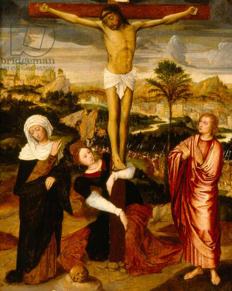 The Crucifixion, c.1560-75 (oil on oak panel)