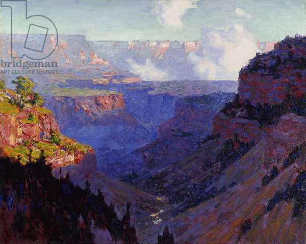 Looking Across the Grand Canyon, c.1910 (oil on canvas)
