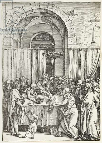 Joachim's Offering Rejected, from Life of the Virgin, 1511 (woodcut)