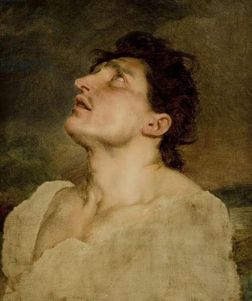 Study of a Man's Head, 1815 (oil on canvas)