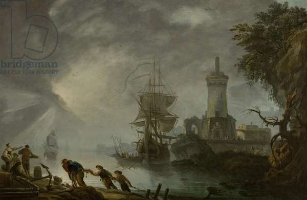 Harbor of Boulogne, 1770 (oil on canvas)