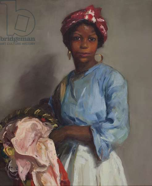 The Laundress, 1916 (oil on canvas)