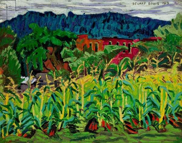Cornfield, USA, 1919 (oil on canvas)