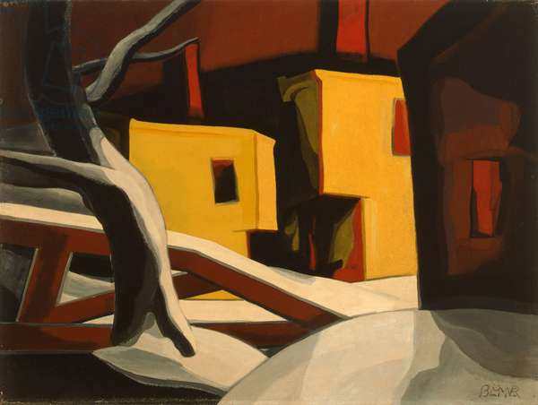 A Light-Yellow (First Snow or Sylvester Night) 1930 (casein and w/c on board)