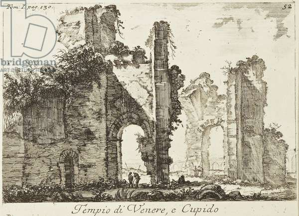 Temple of Venus and Cupid, from the series 'Vedute di Roma', plate 52, 1745 (etching)