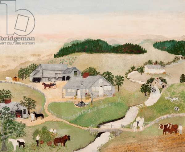 Home of Hezekiah King - 1776, 1943 (casein on Masonite)