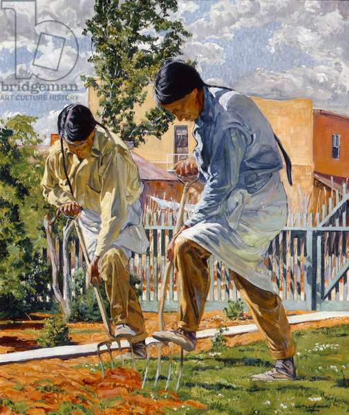 The Garden Makers, 1923 (oil on canvas)