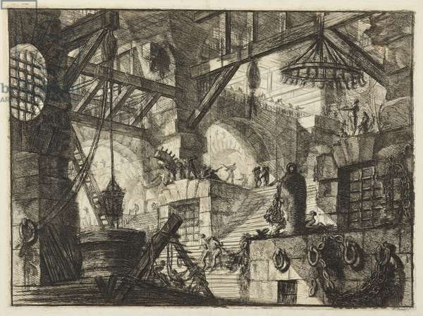 The Well, plate XII from the series 'Prisons', 1750 (etching)