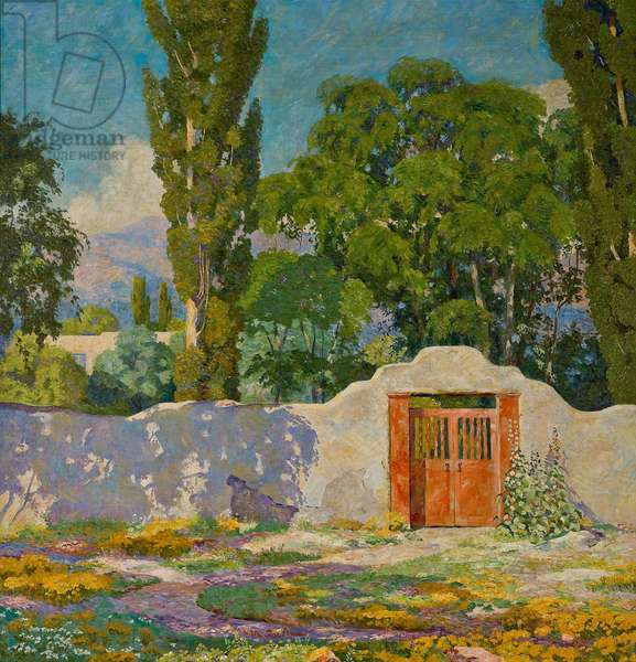 The Flamingo Gate, 1924 (oil on canvas)