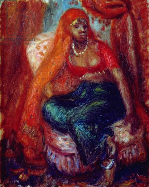 Negress in Costume (oil on canvas)