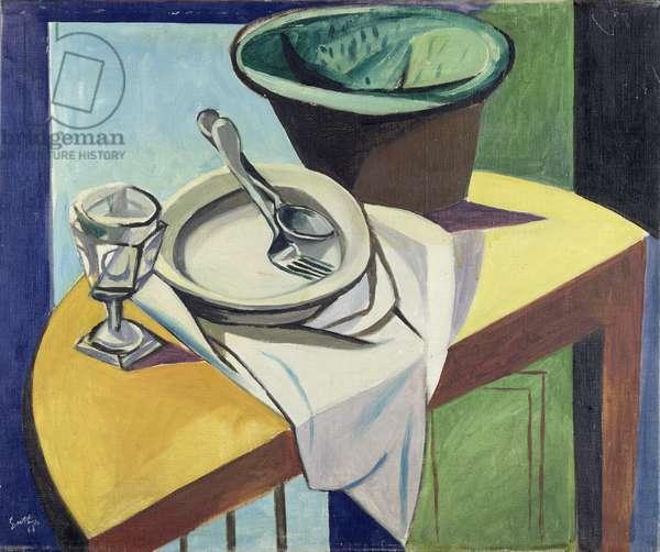 Still Life on a Half Moon Table, 1946 (oil on canvas)