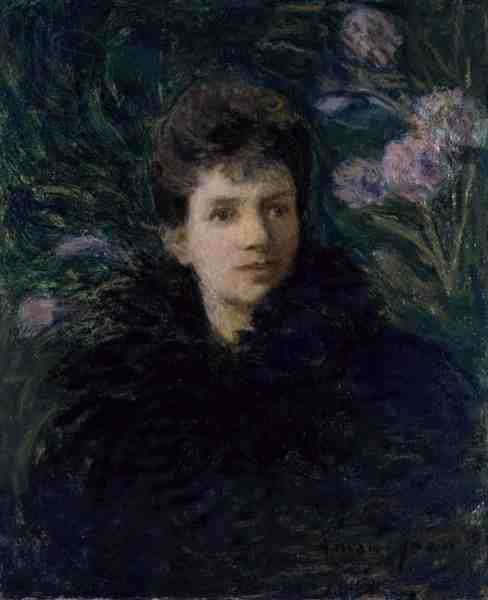 Young Woman with Violets, c.1910 (oil on canvas)