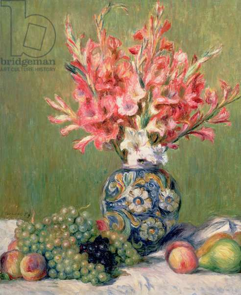 Still life of Fruits and Flowers, 1889 (oil on canvas)