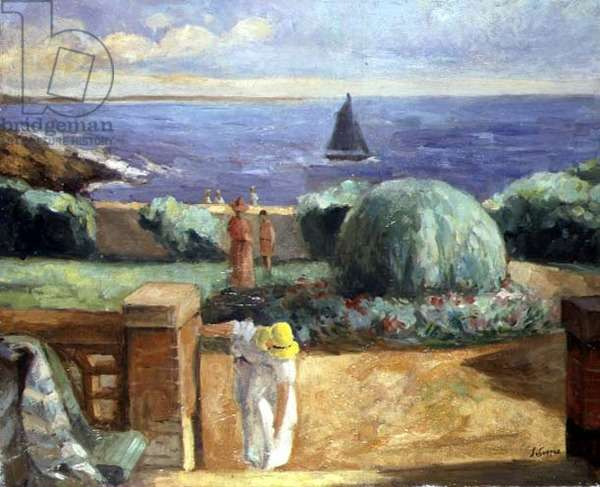 Woman on the Terrace at Prefailles, 1922 (oil on canvas)