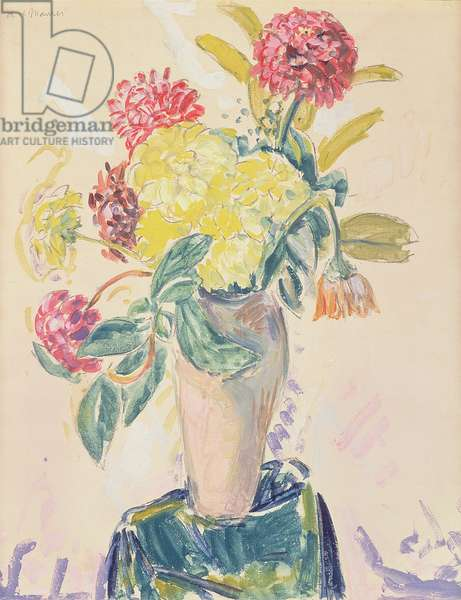 Zinnias, c.1926 (w/c, gouache and charcoal on paper)