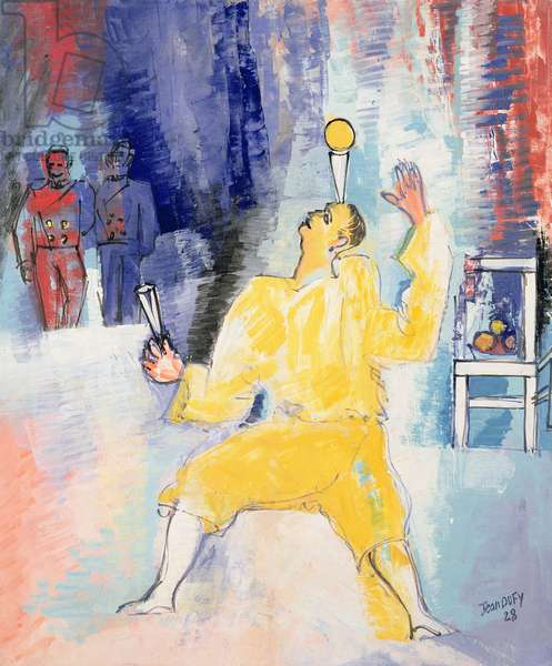 Circus, The Juggler, 1928 (oil on canvas)