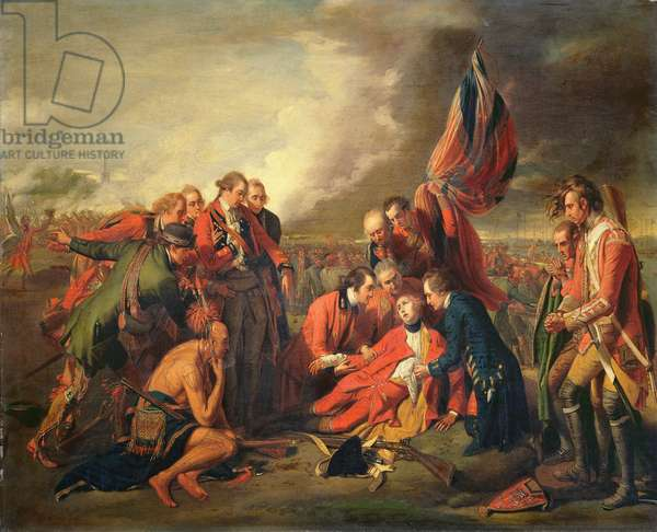 The Death of General Wolfe (1727-59), c.1771 (oil on panel)
