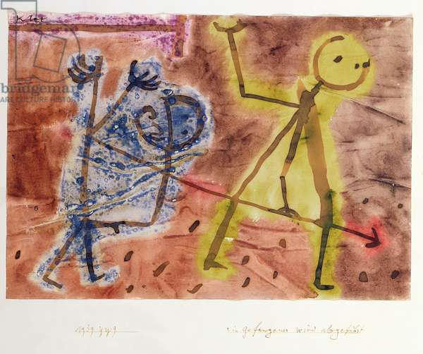 A Prisoner is led Away, 1939 (no 929) (w/c on paper on cardboard)