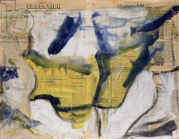 Untitled (oil on newspaper)