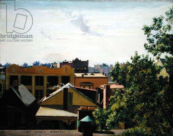 New Jersey Rooftops, 1938 (oil on canvas)