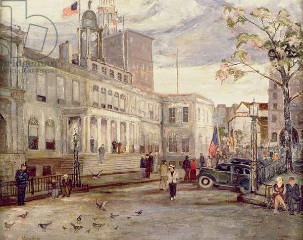 New York City Hall (oil on canvas)