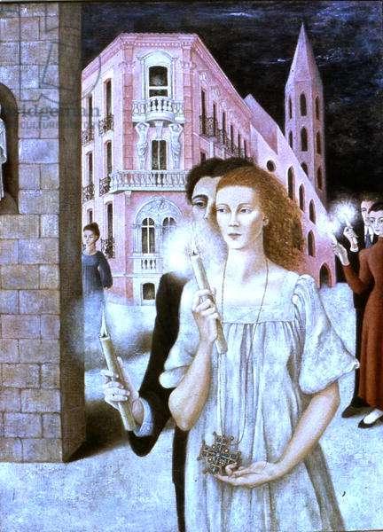 Midnight Mass (oil on canvas)