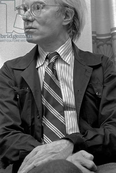 Portrait of Andy Warhol in September 1975
