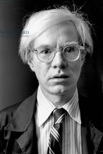 Portrait of Andy Warhol in 1975
