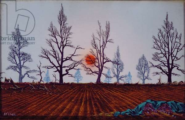 December Sunset, 1946 (oil on canvas)