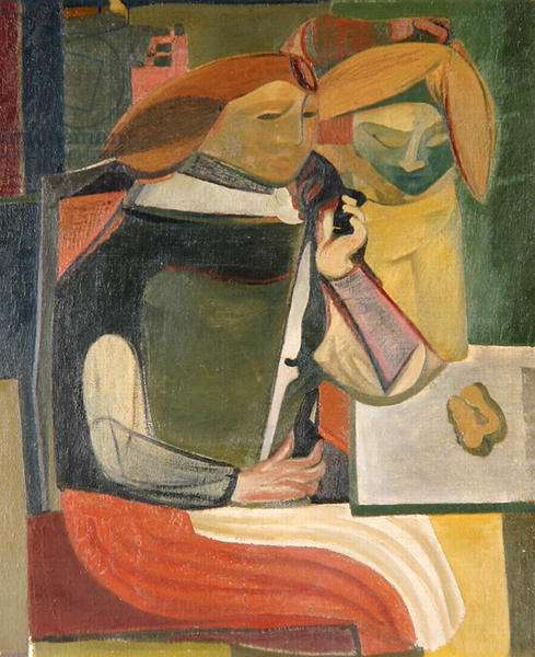 The Two Sisters, 1942 (oil on canvas)