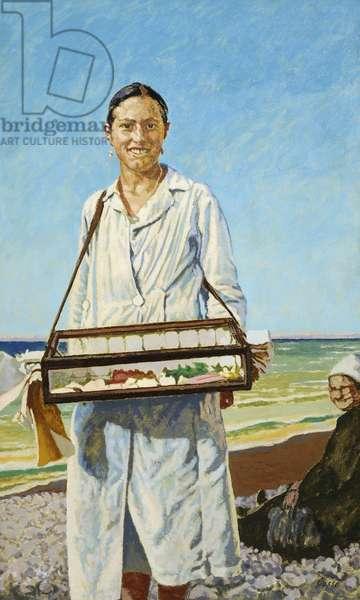 La Marchande de Guimauve (The Marshmallow Seller) (oil on canvas)