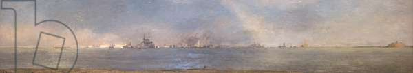 Ships of All Nations Assembling off Spithead, 14 June 1953 for Coronation Review by the Queen, 15 June 1953 (oil on board)