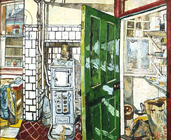 Kitchen II, 1966 (oil on board)