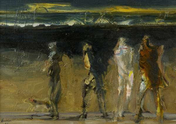 Figures by the Sea, Evening, 1966 (oil on canvas)