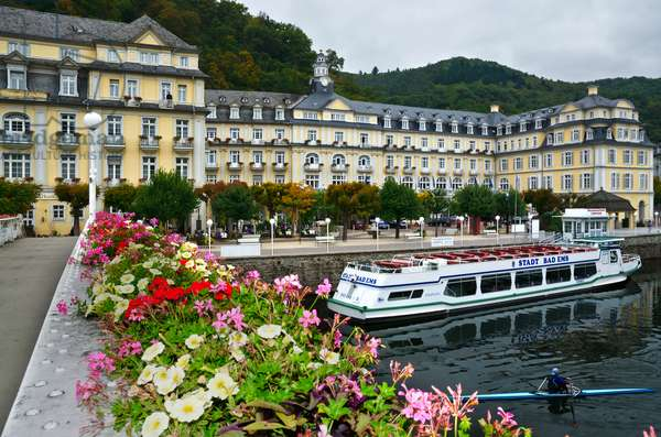 Historic 'Kurhaus' (now Haecker's Spa Resort Grand Hotel) in Bad Ems on River Lahn, one of Germany's most famous 17-18th century spas, Rhein-Lahn District, Rhineland-Palatinate, Germany(photo)