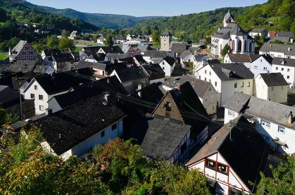 Medieval German village on Lahn river, Dausenau, Rhein-Lahn District, Rhineland-Palatinate, Germany(photo)