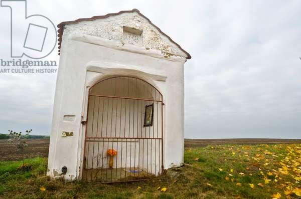 18th century Wayside Shrine in countryside, Usti nad Labem Region, North-Western Bohemia, Czech Republic(photo)