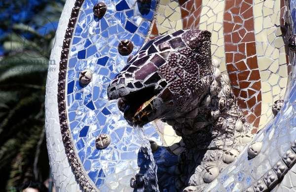 Detail of sculpture (mosaic)
