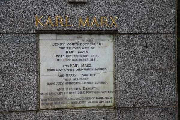 Karl Marx by Laurence Bradshaw, Highgate East (photo)