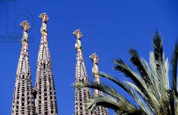 Sagrada Familia towers (photo)