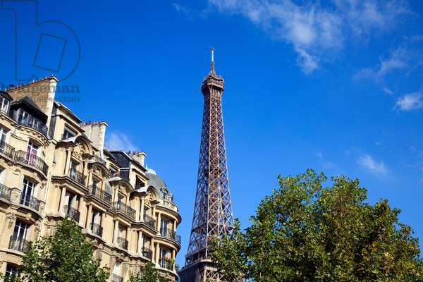 Eiffel Tower and Luxury Apartments in Paris (photo)