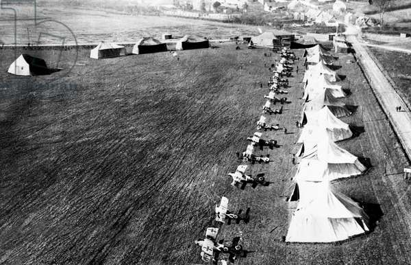 c. 1917 World war one German Airfield base.