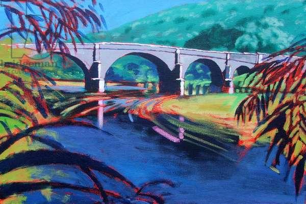 Bridge (acrylic on card)