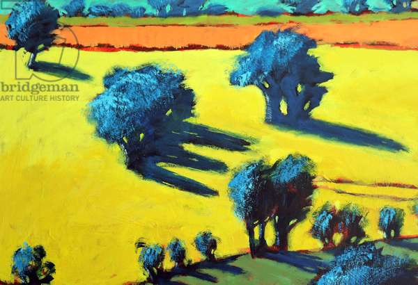 Cotswold Way close up 3 (acrylic on board)