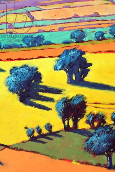 Cotswold Way close up 2 (acrylic on board)