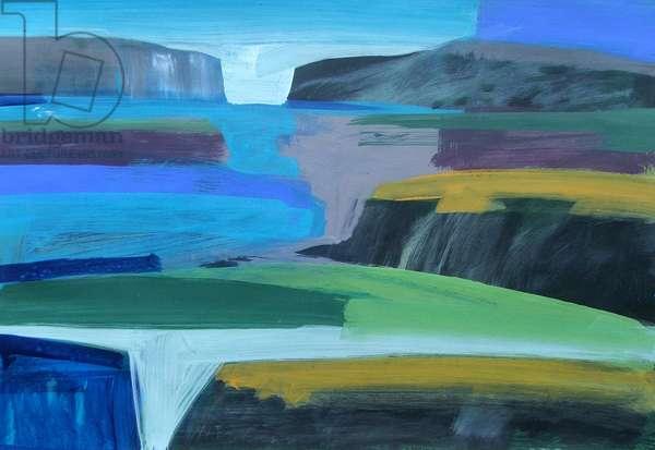 Coast (acrylic on card)