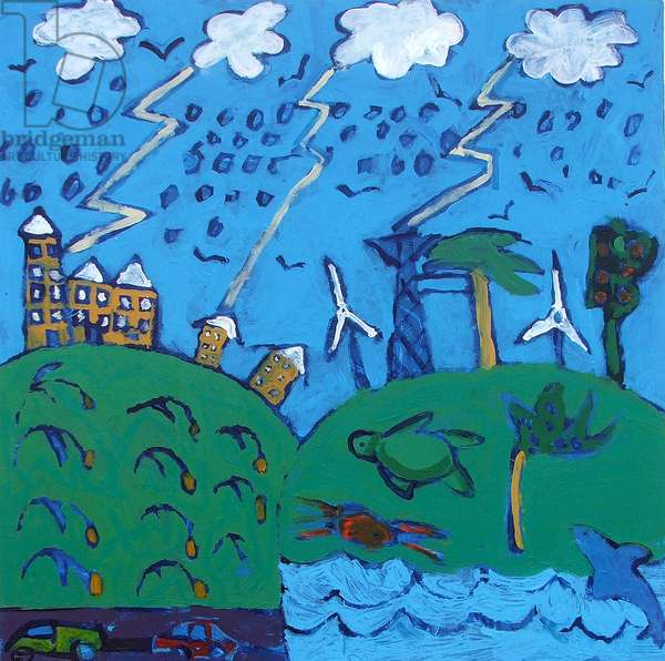 Global Warming (acrylic on board)